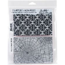 Stampers Anonymous Tim Holtz Cling Stamp Set Skulls & Cobwebs CMS306