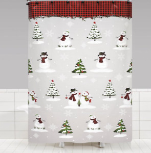 New Woodland Winter Shower Curtain Red - SKL Home