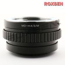 Minolta MD lens to Olympus Panasonic Micro 4/3 adapter macro focusing helicoid