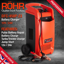 Car Battery Charger Heavy Duty 12V/24V Trickle / Turbo, Vehicle HGV Lorry - ROHR