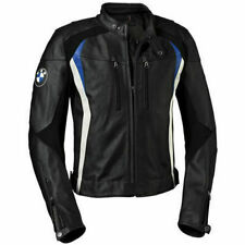 BLACK BMW MOTORBIKE LEATHER RACE TRACK JACKET APPROVED PROTECTIONS