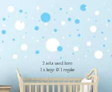 Solid Spots Dots Circle Removable Wall Stickers Kids * ANY COLOUR* Regular Large