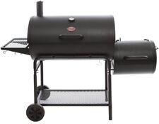 Char-Griller Charcoal Grill Horizontal Smoker Smokin Champ Black Barrel Cart