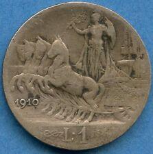 1910 Italy 1 Lira Silver Coin ( 5 Grams .835 )