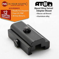 Rifle bipod swivel adapter mount / Airsoft sling weaver rail swivel mount