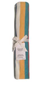 Williams Sonoma Summer Stripe Cotton Table Runner 16 X 108 Multi Color Lined NEW