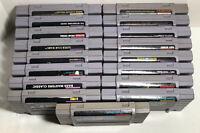 Lot of 17 Super Nintendo SNES Video Games