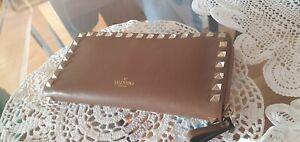 Valentino Geldbörse rosa Portemonnaie Nieten gold