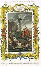 "Dr. Southwell's Bible ""THE BRAZEN SERPENT HEALING JEWS"" - Hand-Col. Eng. -1775"
