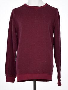 Blank NYC Mens Dark Red Crew Neck Sweatshirt L