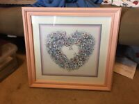 "Home Interiors HOMCO ""From the Heart"" Picture Floral"