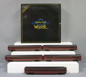Weaver PRR Limited Edition Scale Aluminum 5-Car Passenger Set EX/Box