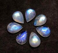 Natural Rainbow Moonstone Pear Cabochon 22x15x7 MM 16 CTS Rainbow Moonstone Blue Flash Loose Gemstone,Smooth Cabochon