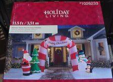 Airblown Inflatable Christmas Gemmy North Pole Archway 11.5 x 6.16 x 7.9-1026233