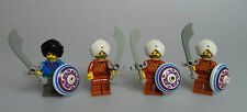 LEGO® Orient Expedition 4x Tempel Palastwache Figur mit Waffen Schebel 7418