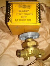 "Kerotest R24 A02P 2 way Packless Valve 1/4"" female pipe Refrigeration / AC NOS"