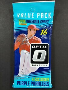 2018 Panini Donruss Optic Baseball Fat Pack - Acuna Or Ohtani RCs?