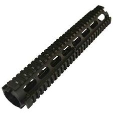 """12"""" Two Piece Drop In Quad Rail Handguard Fit Triangle End Cap 223 556,US Seller"""