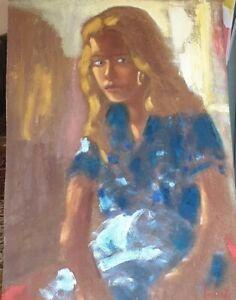 Ritratto di donna, quadro di Lorenzo Albino cm 50 per 70
