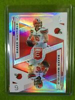 BAKER MAYFIELD PRIZM CARD JERSEY #6 REFRACTOR SSP BROWNS 2019 Donruss ELITE DECK