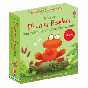 Usborne Phonics Readers 12 Books Box Set - Illustrated by Stephen Cartwright