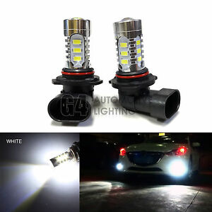 2x HB4 9006 LED Fog Light Bulbs 15W SMD 5730 12V High Power Bright DRL White