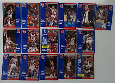 1991-92 Fleer New York Knicks Team Set Of 16 Basketball Cards