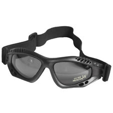 Army Tactical Commando Air Pro Goggles Paintball Tinted Smoke Lens Black Frame