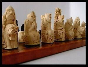 A  Medieval style isle of Lewis style Chess Set chessmen game pieces- stunning