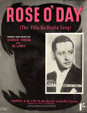 "SHEET MUSIC - ""ROSE O'DAY (THE FILLA-GA-DUSHA SONG"" - BROADCAST BY GERALDO(1941)"