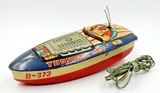 VINTAGE JAPANESE BATTERY OPERATED THUNDER JET TOY BOAT BY CRAGSTAN TOYS