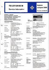 Service Manual-Anleitung für Telefunken Bajazzo Compact 3000