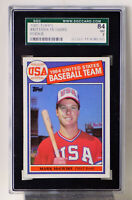 1985 TOPPS  # 401 MARK McGWIRE   ROOKIE CARD OLYMPIC GAMES  SGC 84  NM 7