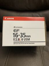 Canon EF 16-35mm f/2.8 L II USM Lens. Mint! Includes Hood, Case, UV Filter