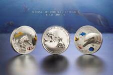 Palau 2017 $10 Seahorse & Dolphin 2 x 2 Oz Silver Proof 2-Coin Set