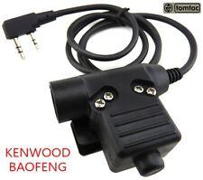 Airsoft tomtac U94 PTT black 2 way commutateur radio sordins comtac kenwood 2 broches