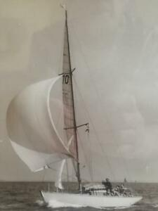 BEKEN OF COWES, YACHT 'ALEXANDRA OF ITCHENOR' c1955, FRAMED PHOTOGRAPH