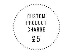 Custom engraving fee for Butler and Grace products