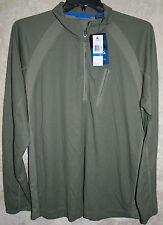 NEW CHAPS long sleeve Explorer shirt Olive Green  XL 1 zip Pocket  Wicking