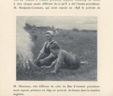 ANTIQUE GIRL BOY ROASTING POTATO CAMP FIRE POTATOES HARVEST FARM GARDEN PRINT