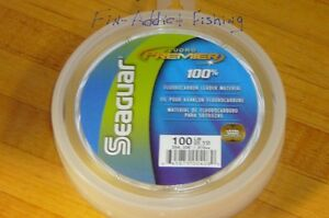 Seaguar Premier Fluorocarbon leader 100 pound 25 yard tuna live bait igfa rated