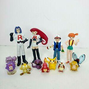 VTG Team Rocket, Misty Ash Trainer & Pokemon Action Figures CGTSJ Pikachu Etc..