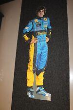 Cardboard Figurine Fernando Alonso Mild Seven Renault F1 (height 180 cm)