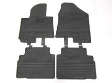 OEM 2012 2013 Hyundai Tucson All Weather Black Rubber Floor Mats 4 Piece Mat Set