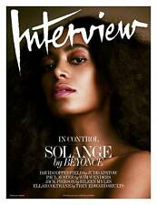 Interview Magazine Solange Knowles Beyonce Paul Hameline David Copperfield NEW