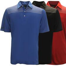 Greg Norman Men's Engineered Stripe Polo Golf Shirt NEW