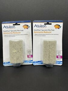 2X Boxes Aqueon Quiet Flow 10 Ammonia Reducer Specialty Filter Pads