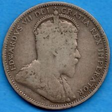 Canada 1907 25 Cents Twenty Five Cent Silver Coin - Very Good