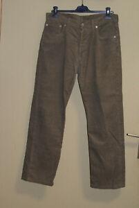 Pantalon en velours gris «LEVIS» taille W34 L 34