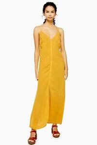 TOPSHOP OCHRE CAMI MAXI BEACH DRESS ~ SIZE S OR M ~ BNWT ~ *RRP £26.00*